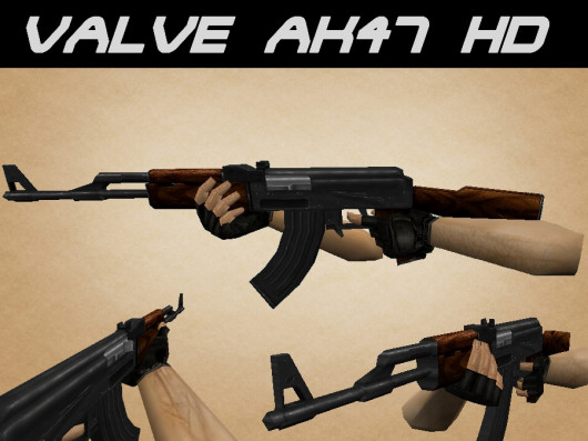 Модель HD AK-47 on Valve для CS 1.6
