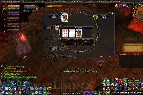 Приложения для World of Warcraft: Texas Holdem